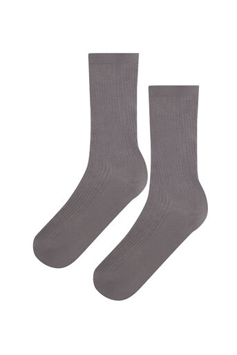 Warehouse, LUXE RIBBED SOCKS Light Grey 0
