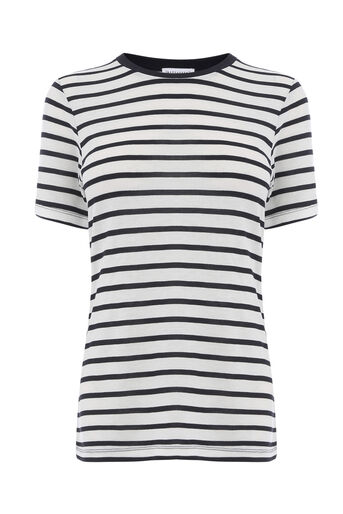 Warehouse, SMART STRIPE TEE Blue Stripe 0