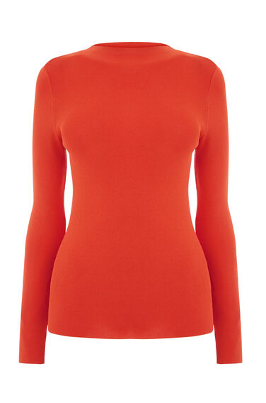 Warehouse, SLASH SLEEVE JUMPER Orange 0
