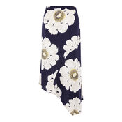 Warehouse, MELODY FLORAL SKIRT Blue Pattern 0