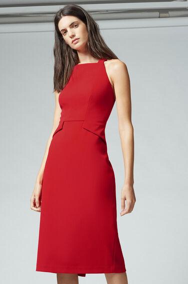 Warehouse, PINAFORE DRESS Bright Red 1