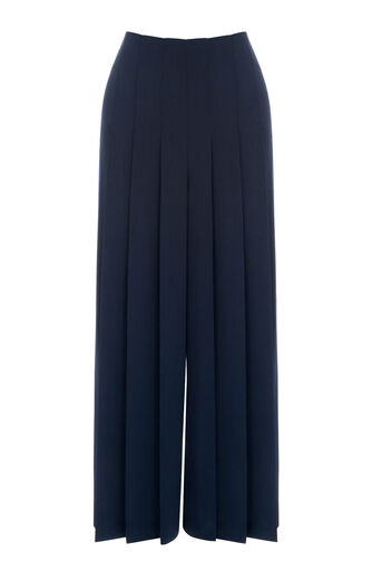Warehouse, PLEATED CULOTTES Navy 0