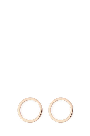 Warehouse, GOLD PLATED CIRCLE EARRINGS Copper Colour 0