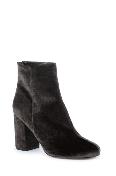 Warehouse, Zip Back Ankle Boot Dark Grey 0