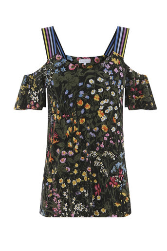 Warehouse, WILD GARDEN COLD SHOULDER TOP Multi 0