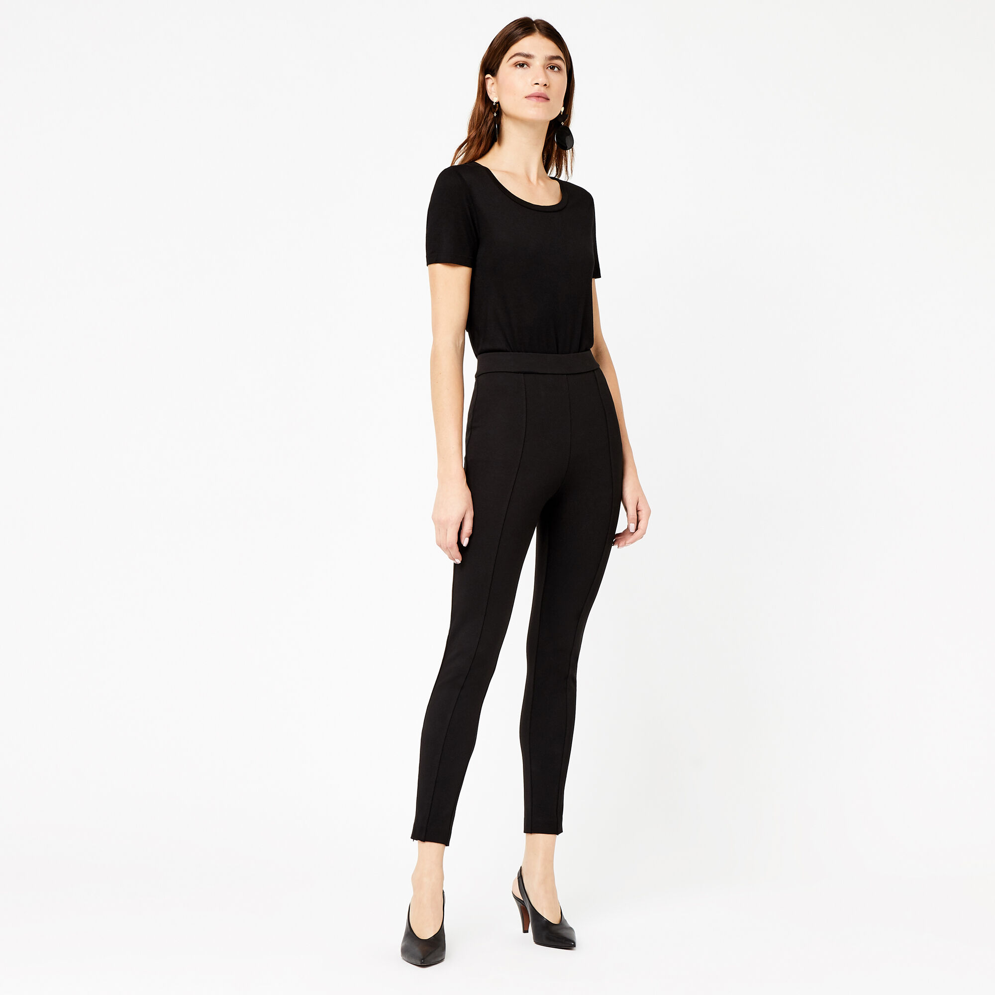 Warehouse, PONTE TROUSERS Black 1