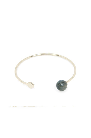 Warehouse, STONE CIRCLE BRACELET Gold Colour 0