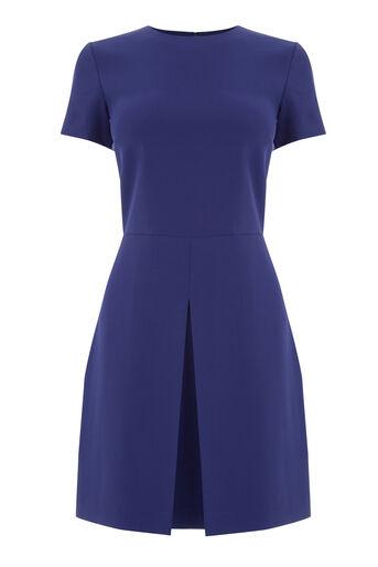 Warehouse, BOX PLEAT DRESS Bright Purple 0