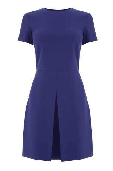 Warehouse, BOX PLEAT DRESS Bright Purple 0
