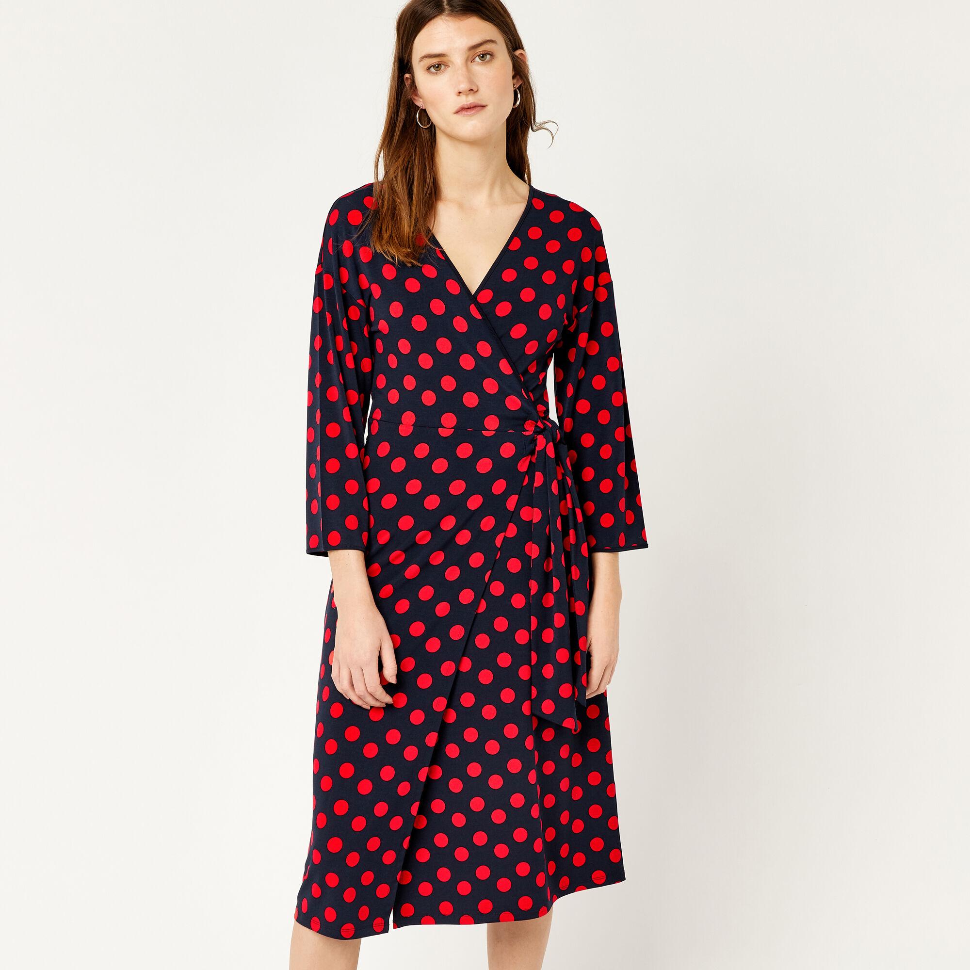 Express wrap dress black and white leopard print