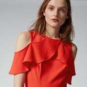 Warehouse, CREPE OVERLAY JUMPSUIT Light Red 4