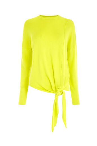Warehouse, TIE FRONT JUMPER Yellow 0