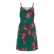 Warehouse, GRAPHIC PALM STRAPPY DRESS Green Print 0