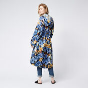 Warehouse, Peony Pop Windbreaker Blue Pattern 3