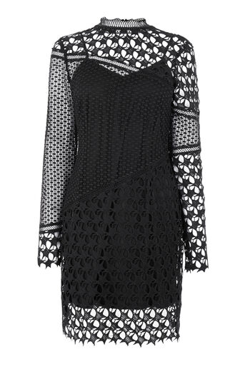 Warehouse, STAR LACE DRESS Black 0