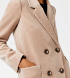 Warehouse, Silk Mix Long Line Crombie Camel 4