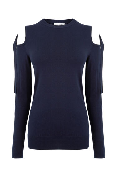 Warehouse, TIE SHOULDER JUMPER Navy 0
