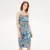 Warehouse, Palm Print Cami Dress Blue Pattern 1