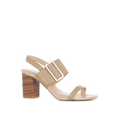 Triple Strap Stacked Sandal