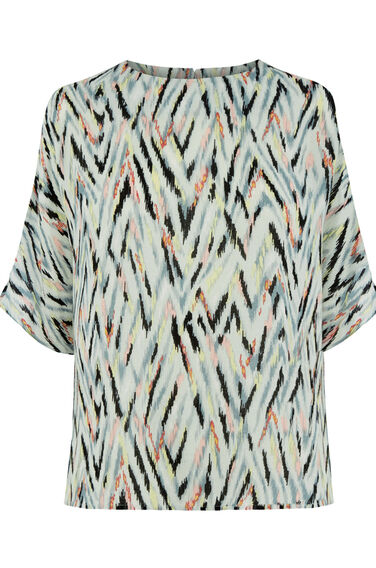 Warehouse, ZIG ZAG PRINT TOP Multi 0