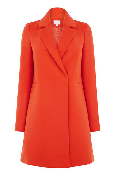 Warehouse, Smart Tailored Coat Bright Red 0