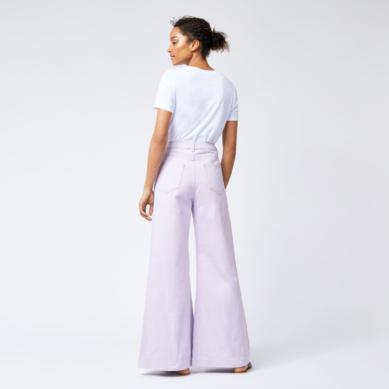 Warehouse, Super Wide Cut Jeans Lilac 1