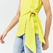 Warehouse, KNOT FRONT TOP Yellow 4