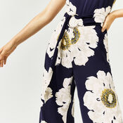 Warehouse, MELODY FLORAL JUMPSUIT Blue Pattern 4