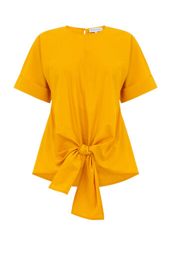 Warehouse, TIE FRONT COTTON TOP Yellow 0