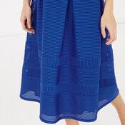 Warehouse, LINEAR PROM DRESS Bright Blue 4