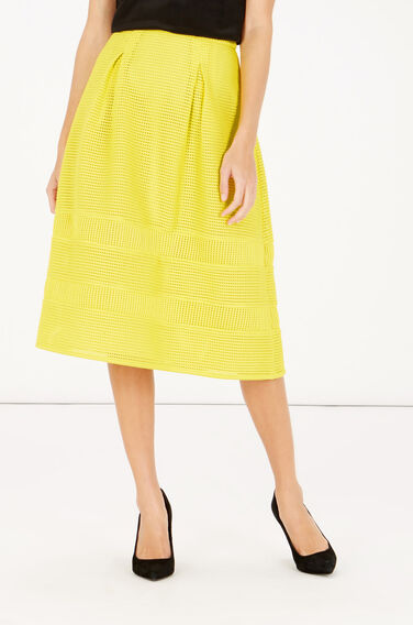 Warehouse, Linear Prom Skirt Yellow 0