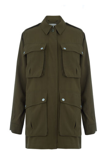 Warehouse, Four Pocket Military Jacket Khaki 0