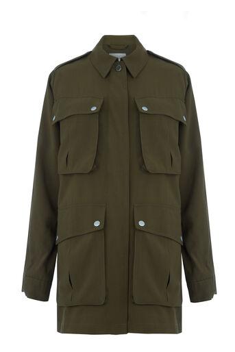 Warehouse, Four Pocket Military Jacket Khaki 0
