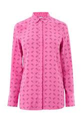 Warehouse, MINI PAISLEY SHIRT Pink Pattern 0