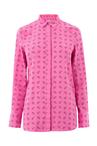 Warehouse, MINI PAISLEY SHIRT Pink Pattern 0