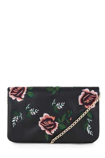 Warehouse, EMBROIDERED DETAIL CROSSBODY Black 0