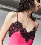 Warehouse, LACE TRIM CAMI DRESS Bright Pink 4