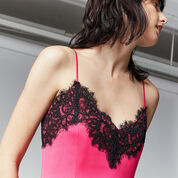 Warehouse, LACE TRIM CAMI DRESS Bright Pink 4