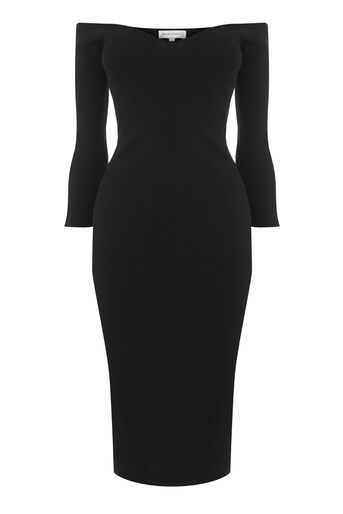 Warehouse, SWEETHEART NECKLINE DRESS Black 0