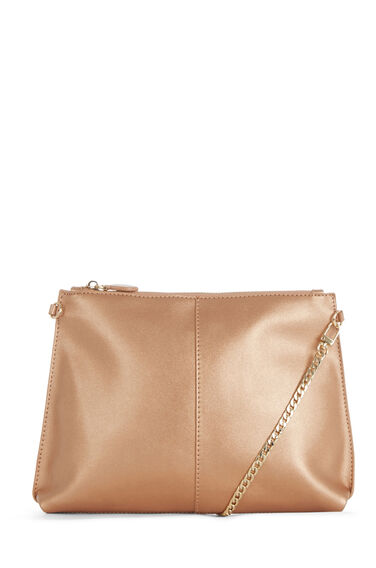 Warehouse, CHAIN STRAP CROSS BODY BAG Copper Colour 0