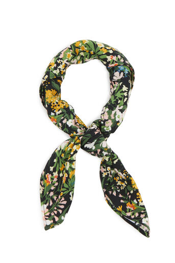 Warehouse, MEADOW PRINT NECKERCHIEF Black 0