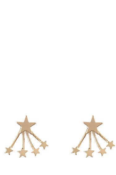 Warehouse, Multi Star Swing Earrings Gold Colour 1