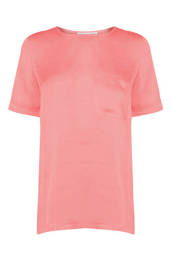 Warehouse, Satin Front Tee Light Pink 0