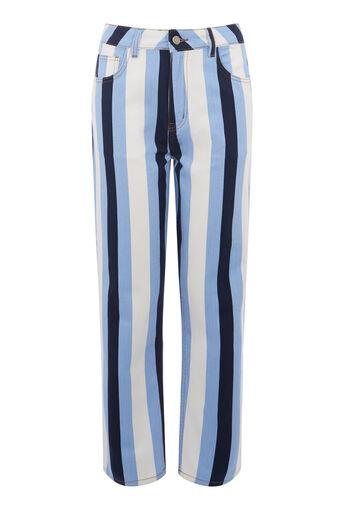Warehouse, Rechte jeans met strepen Veelkleurig 0