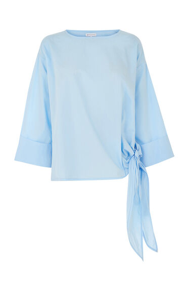 Warehouse, COTTON TIE SIDE TOP Light Blue 0