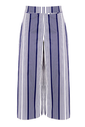 Warehouse, STRIPE CULOTTES Navy 0