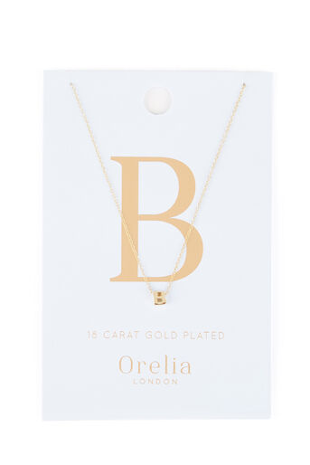 Warehouse, PERSONALISED NECKLACE B Gold Colour 0