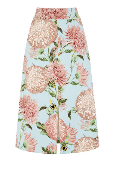 Warehouse, POM POM PRINT FLORAL SKIRT Multi 0