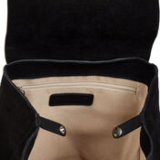 Warehouse, Leather Suede Mini Rucksack Black 4
