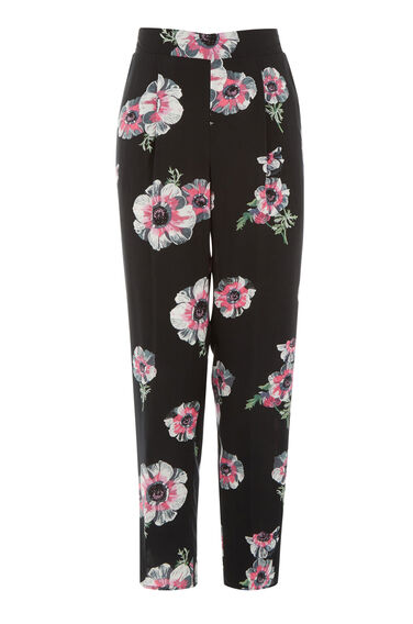 Warehouse, OCEAN FLORAL TROUSER Black Pattern 0